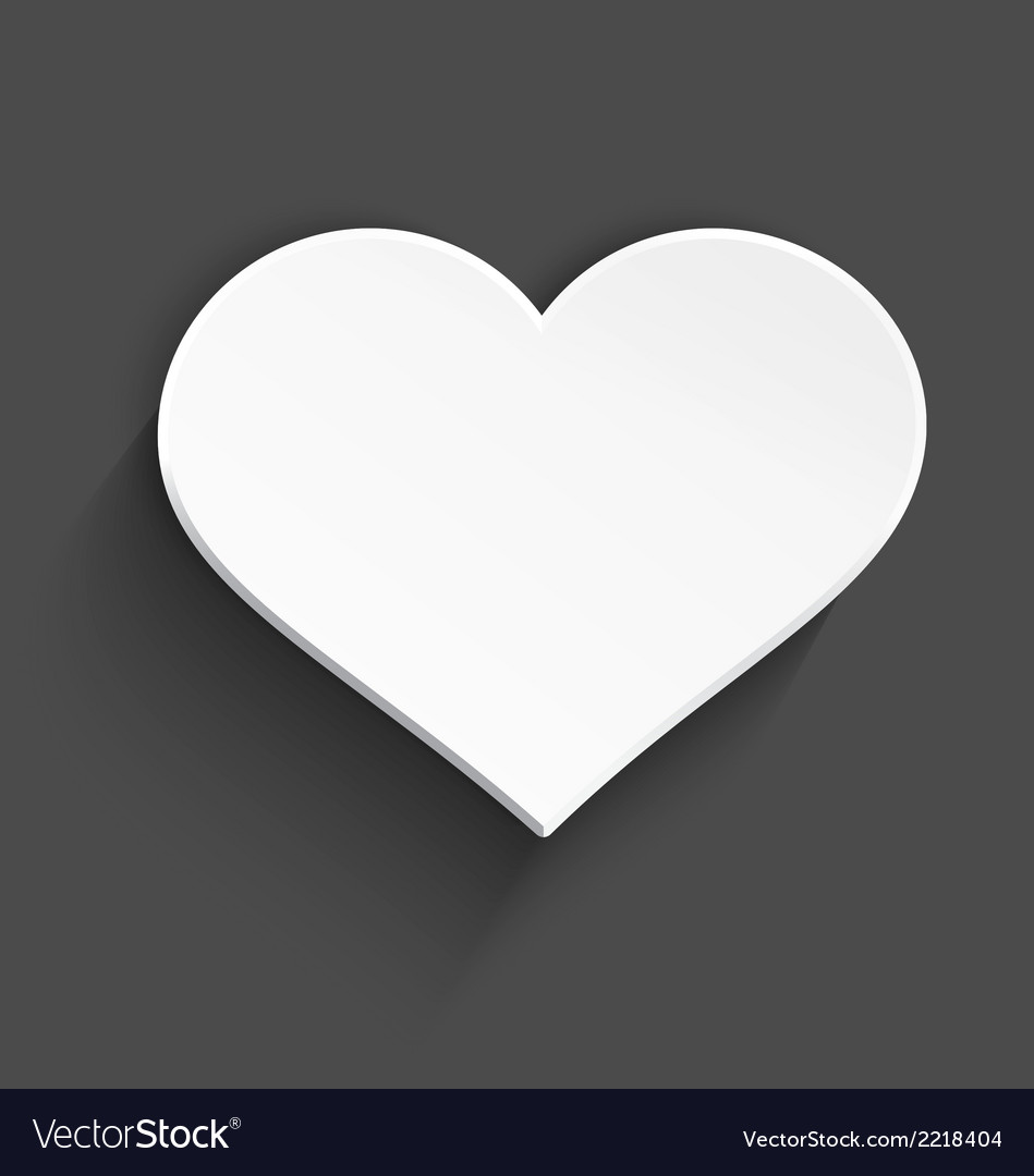 White heart vector | Price: 1 Credit (USD $1)