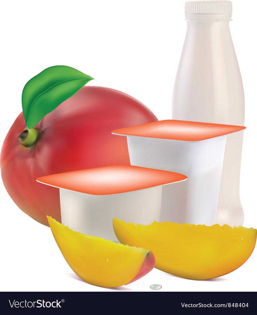 Yogurt flavors vector | Price: 3 Credit (USD $3)