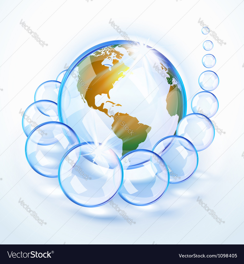 Bubbled earth america vector | Price: 1 Credit (USD $1)