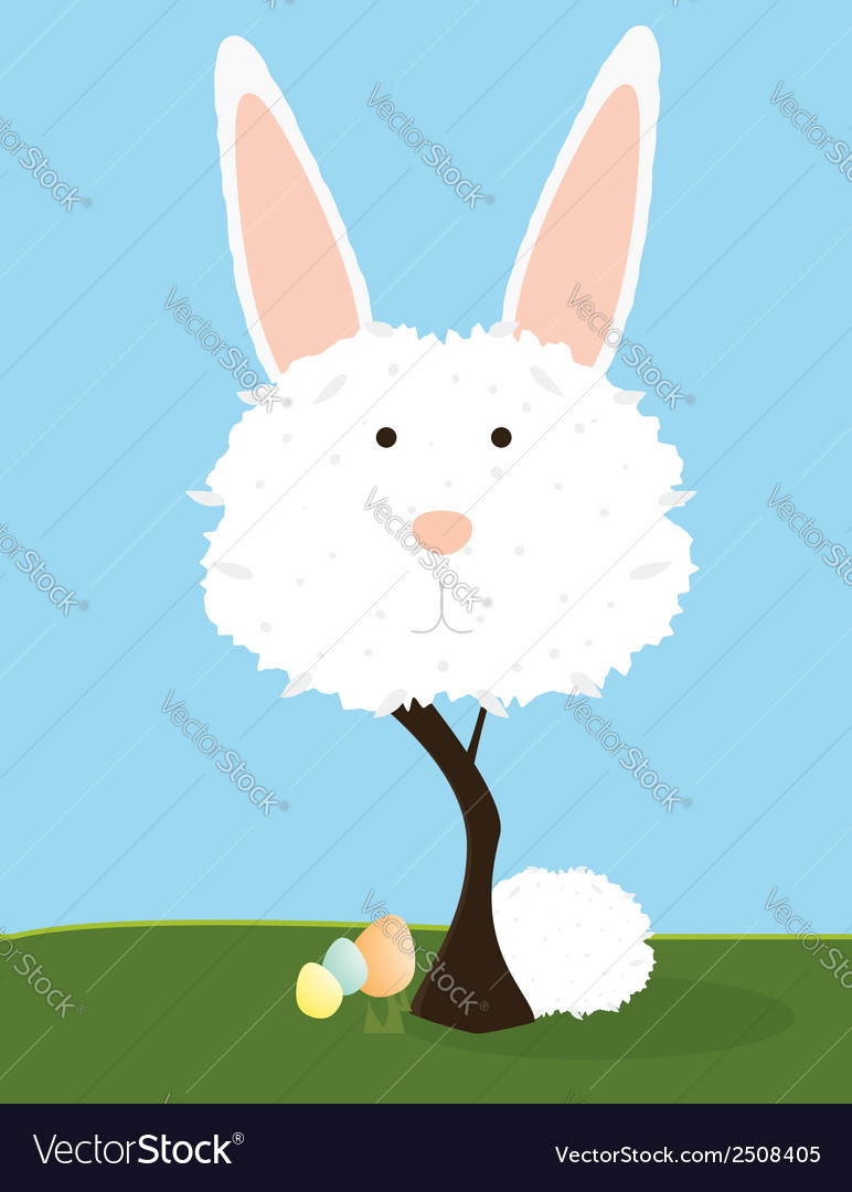 Bunny tree vector | Price: 1 Credit (USD $1)