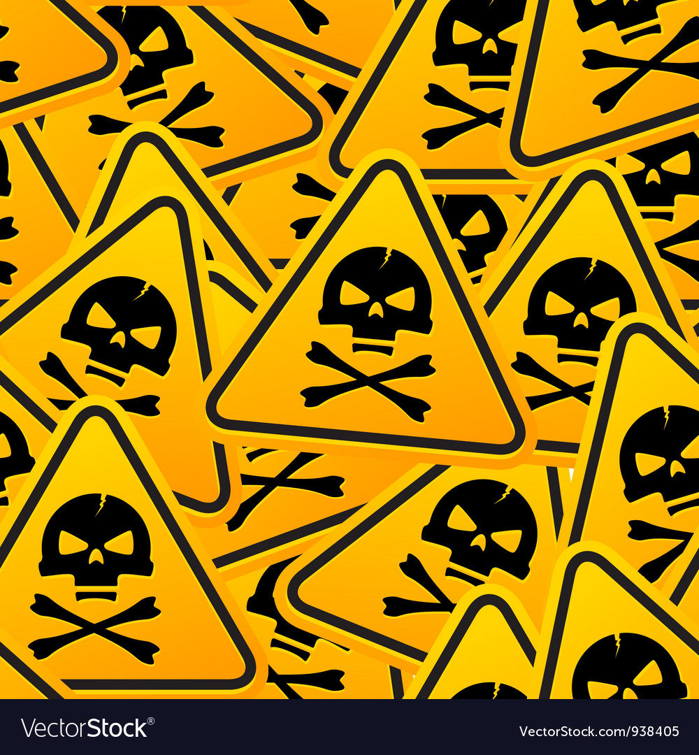 Deadly warning sign vector | Price: 1 Credit (USD $1)