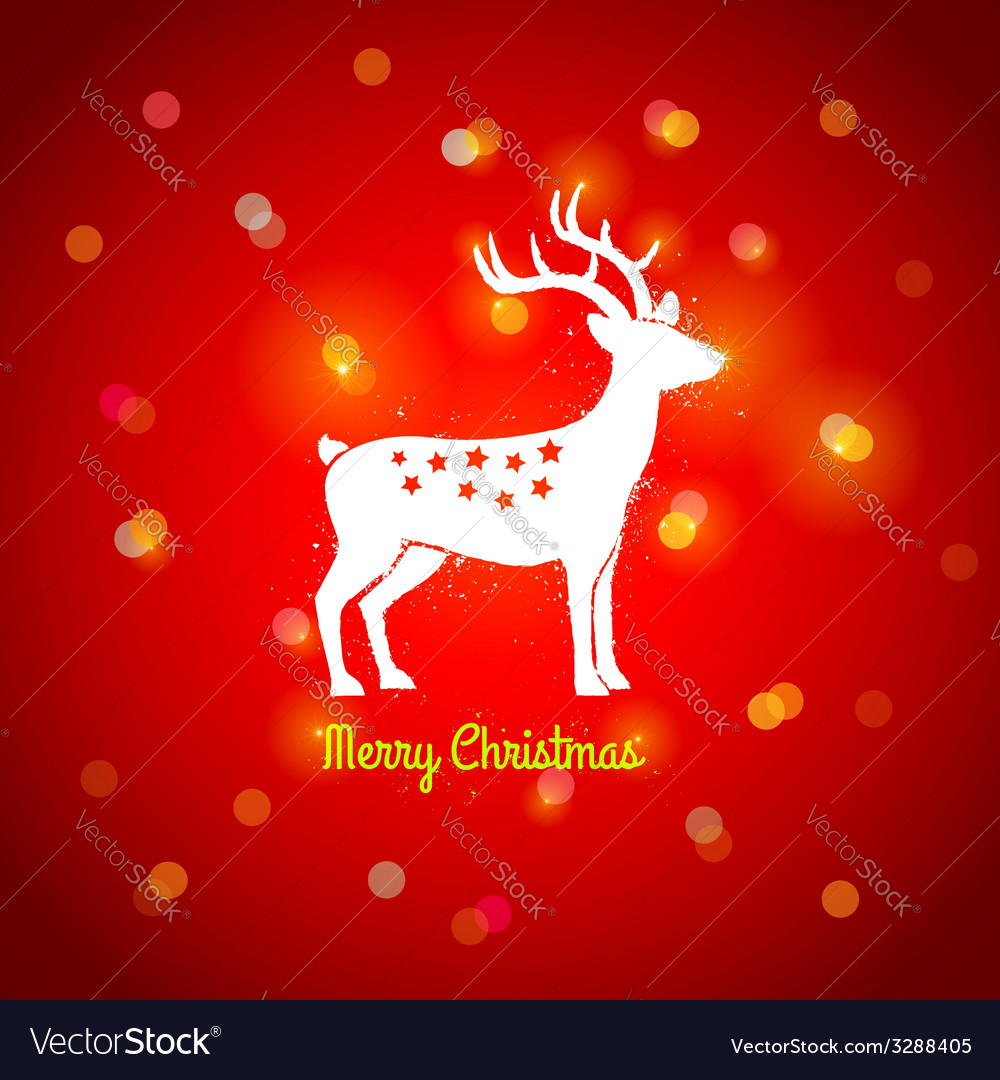 Deer and lights vector | Price: 1 Credit (USD $1)