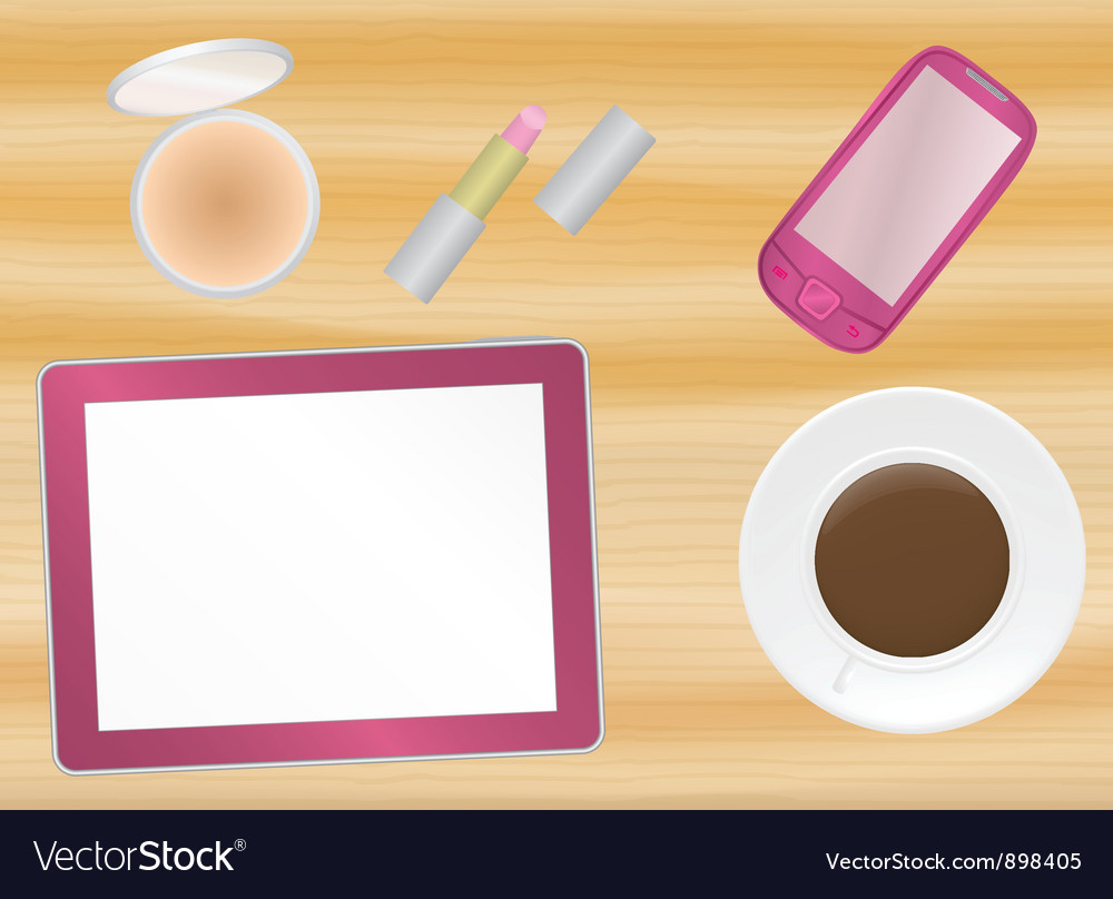 Female office table vector | Price: 1 Credit (USD $1)