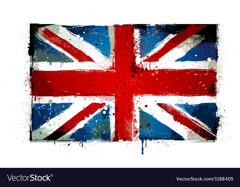 Grungy uk flag vector | Price: 1 Credit (USD $1)
