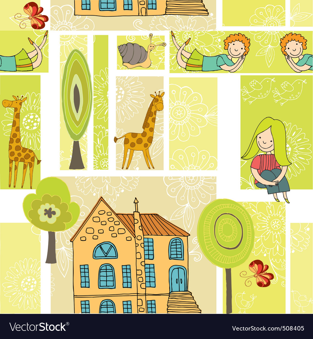 Home pattern vector | Price: 1 Credit (USD $1)