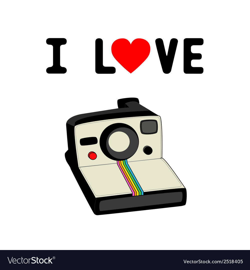 I love camera2 vector | Price: 1 Credit (USD $1)