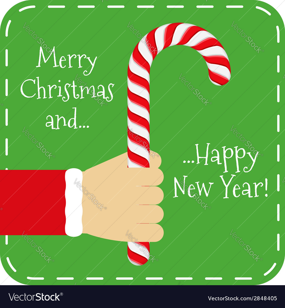 Merry chistmas and happy new year vector | Price: 1 Credit (USD $1)