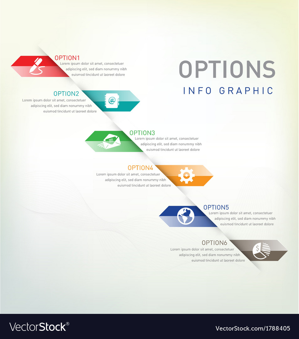 Option infographic vector | Price: 1 Credit (USD $1)