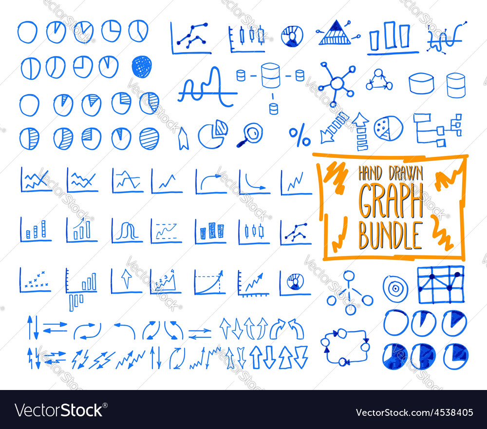 Set of outline doodle sketched hand drawn vector   Price: 1 Credit (USD $1)