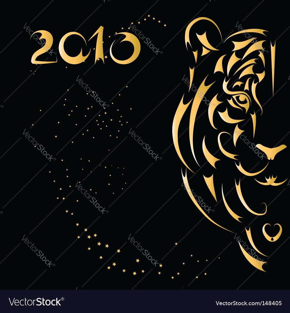 Tiger symbol 2010 year vector | Price: 1 Credit (USD $1)