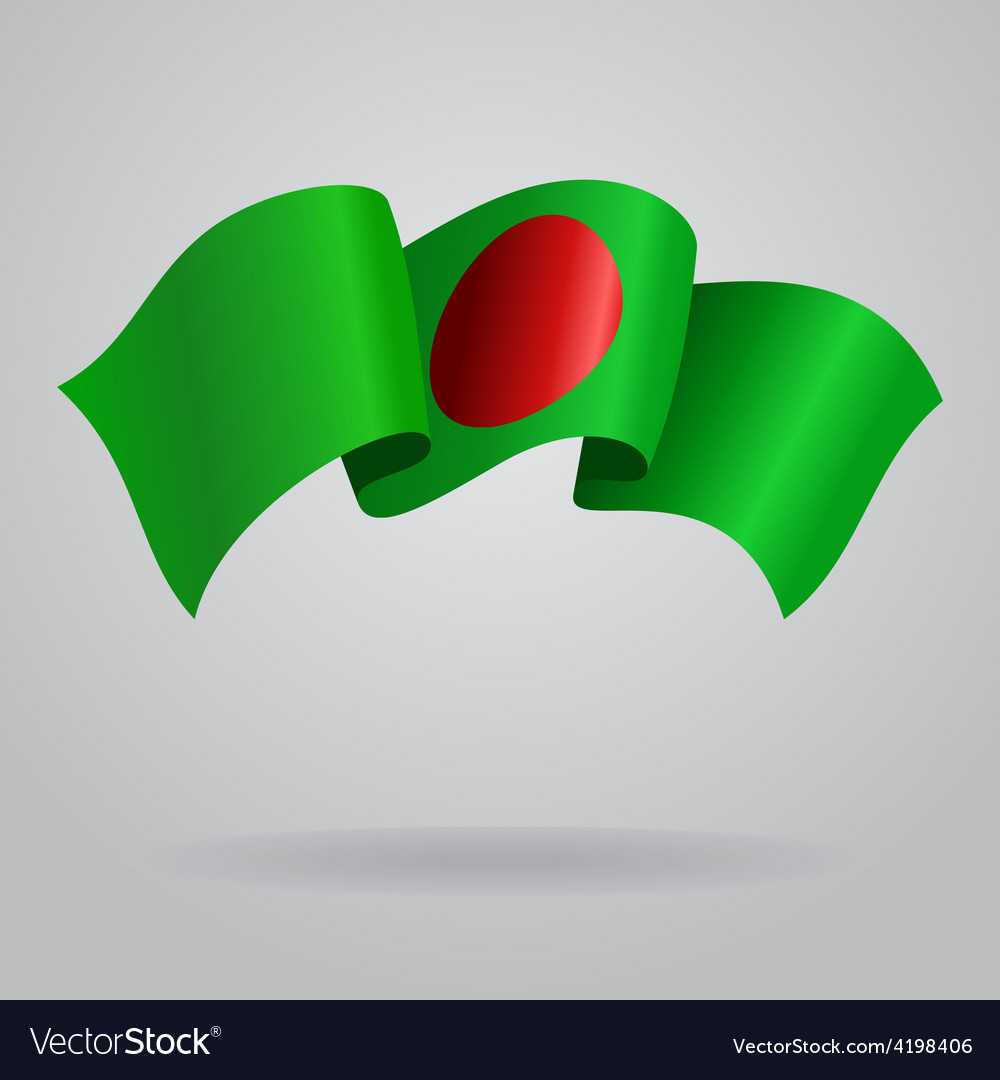 Bangladeshi waving flag vector | Price: 1 Credit (USD $1)