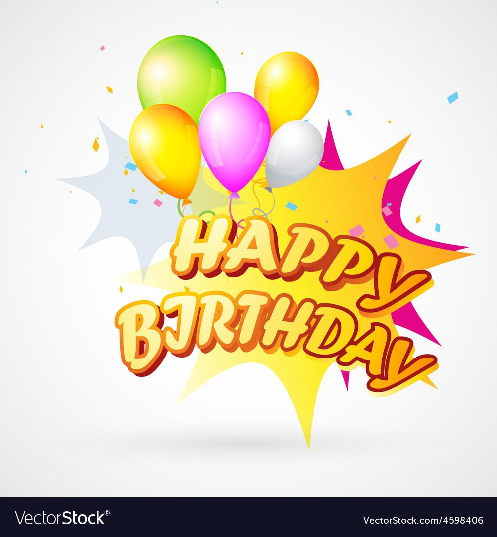Birthday blast vector | Price: 1 Credit (USD $1)