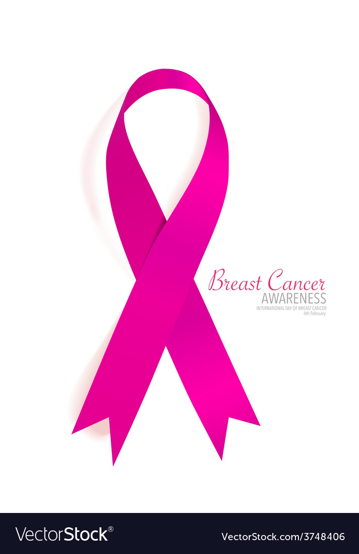 Breast cancer awareness pink ribbon vector | Price: 1 Credit (USD $1)