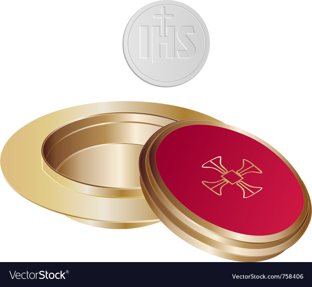 Communion golden paten vector | Price: 1 Credit (USD $1)