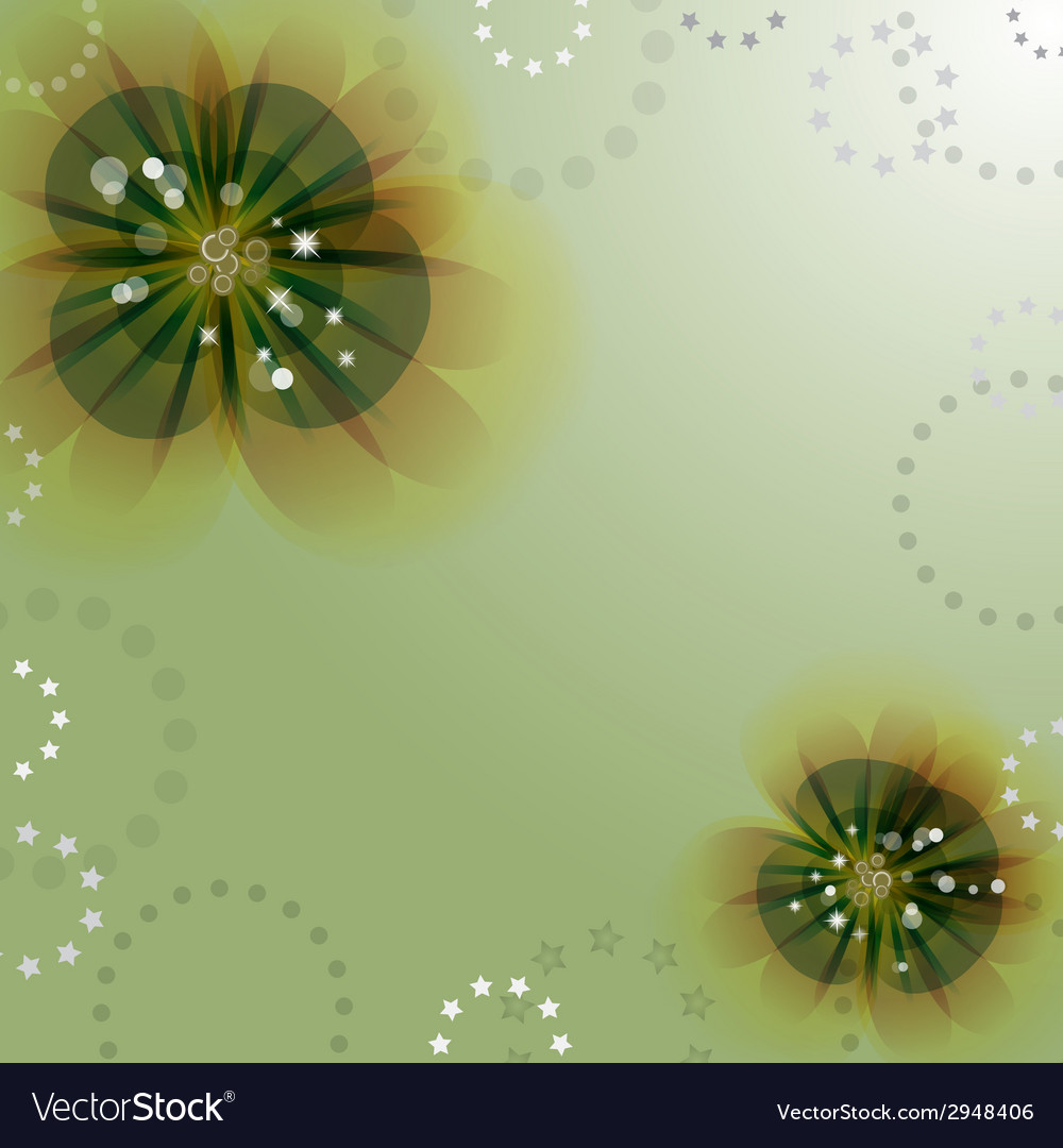 Flowers on the greeting card vector   Price: 1 Credit (USD $1)