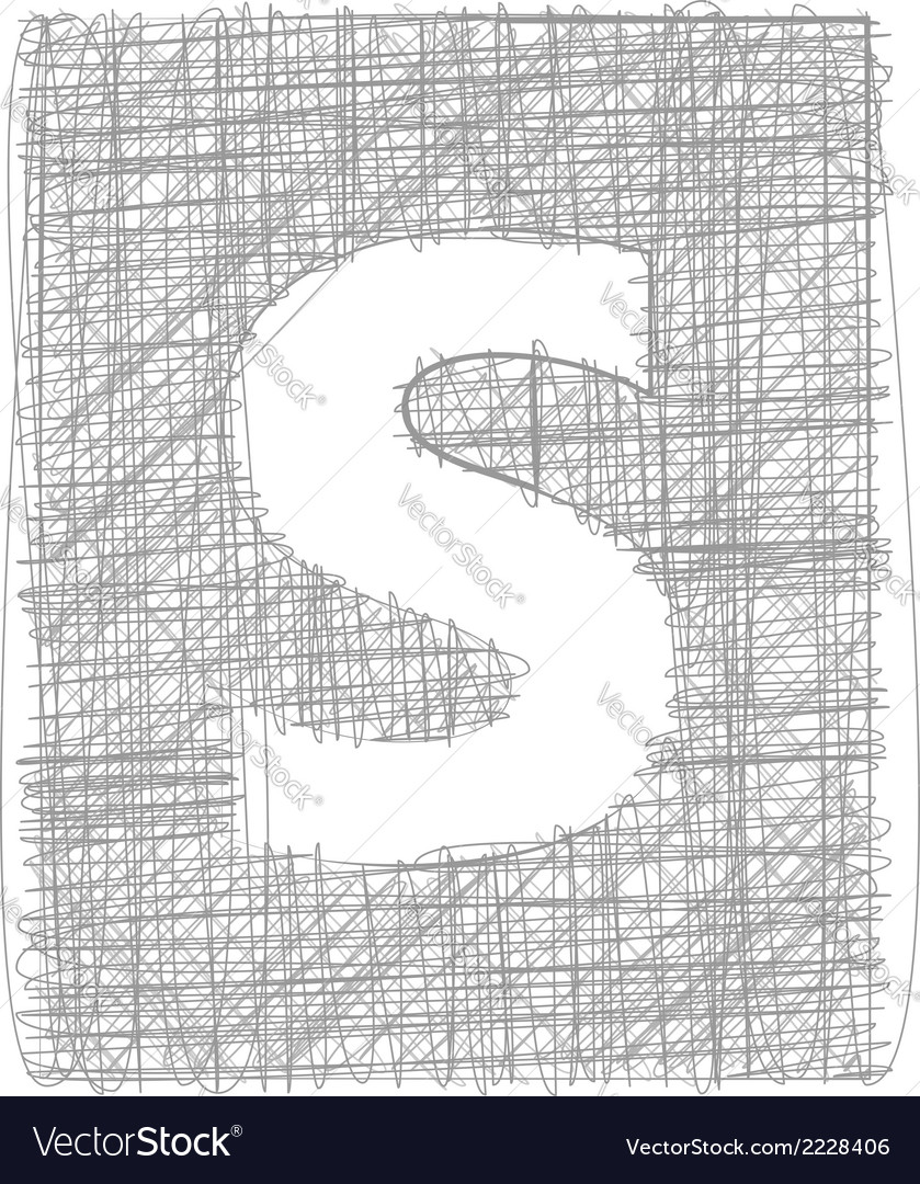 Freehand typography letter s vector | Price: 1 Credit (USD $1)