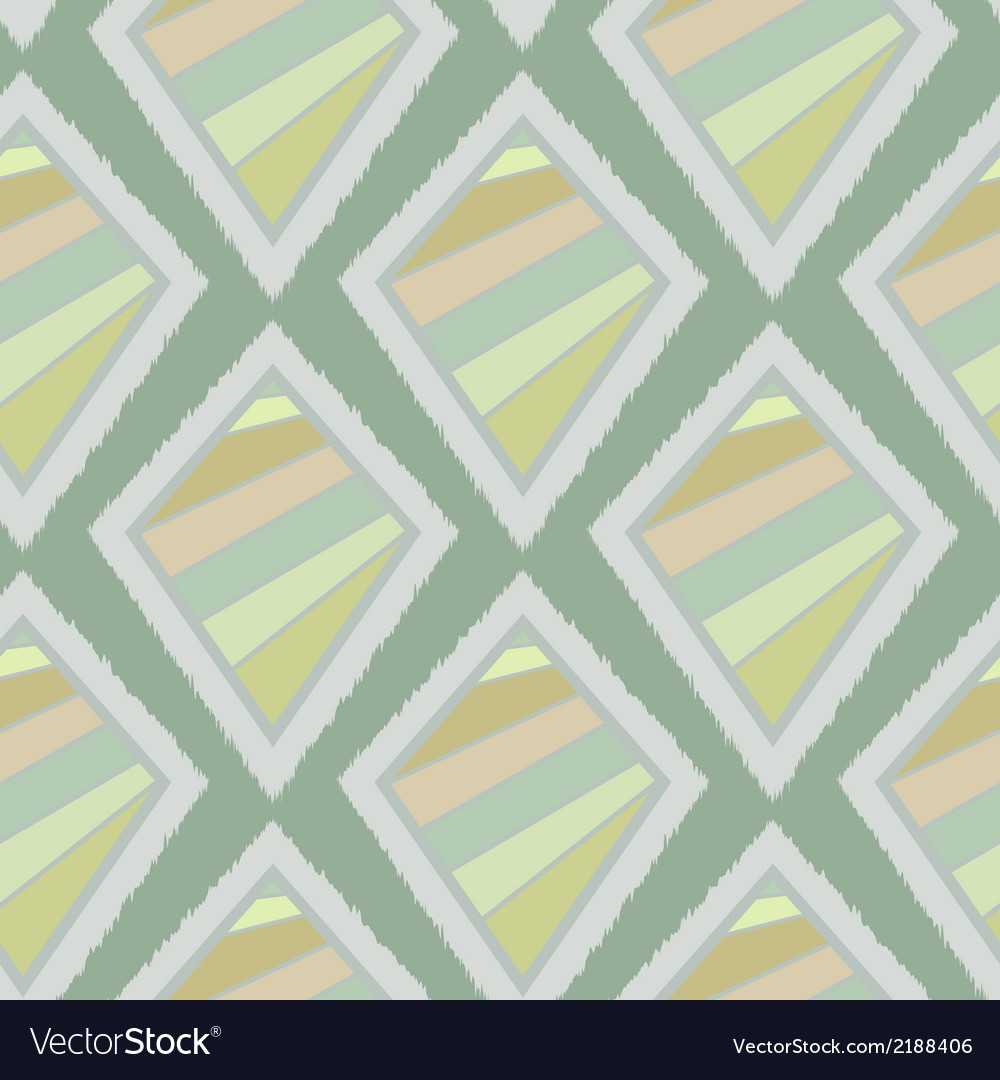 Geometric retro ikat tribal seamless pattern vector | Price: 1 Credit (USD $1)