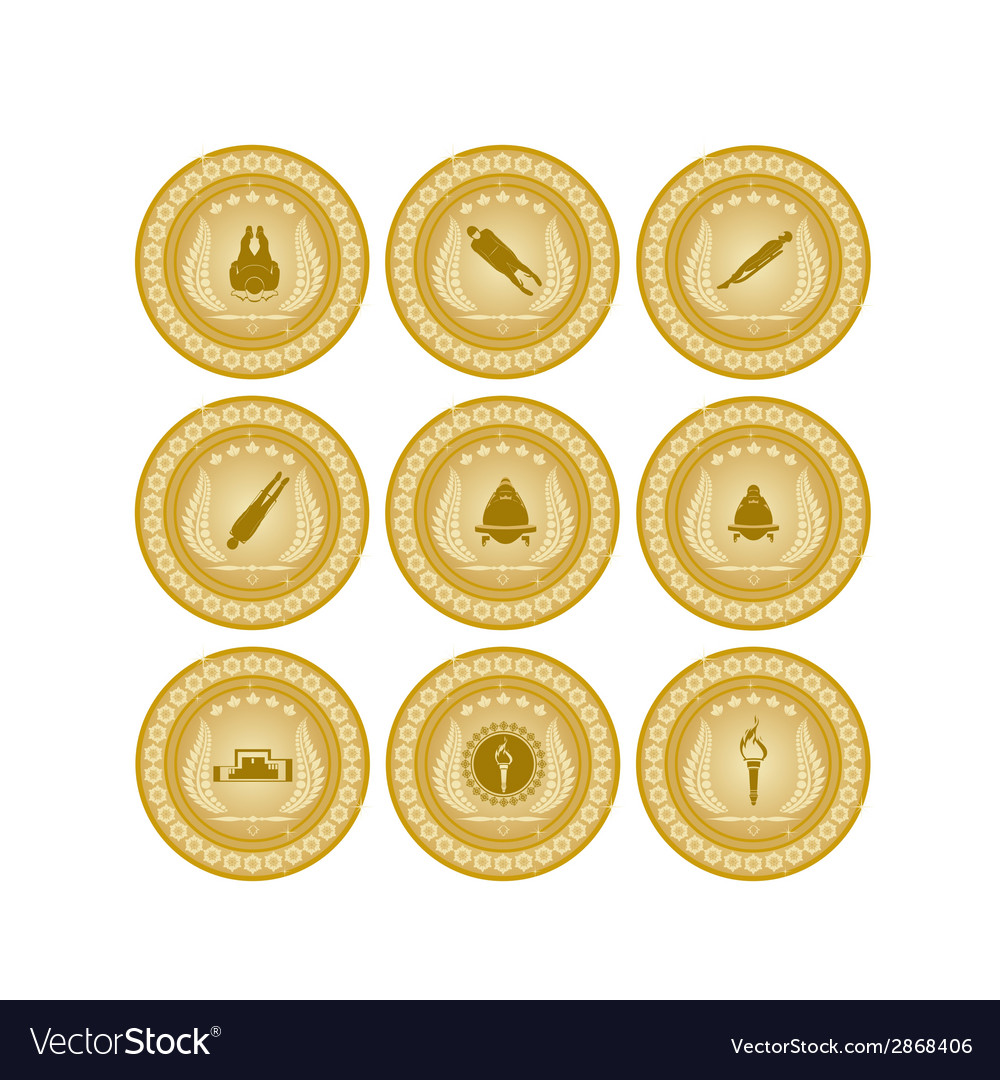Gold medal sport-7 vector | Price: 1 Credit (USD $1)