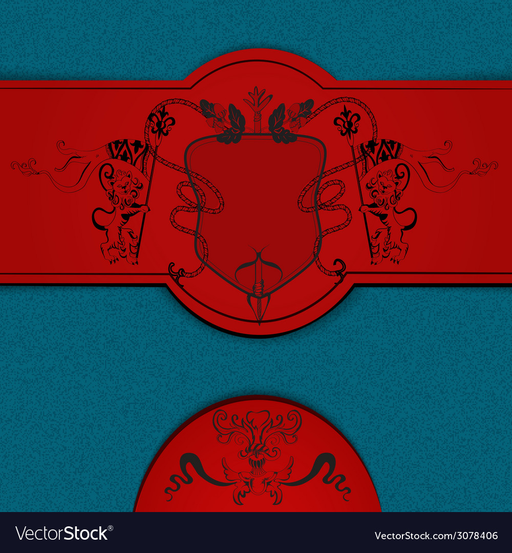 Heraldic colored background vector | Price: 1 Credit (USD $1)
