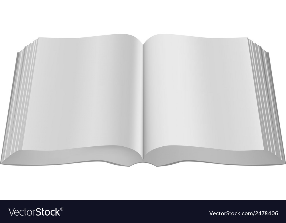 Open big book paperback limp binding vector | Price: 1 Credit (USD $1)