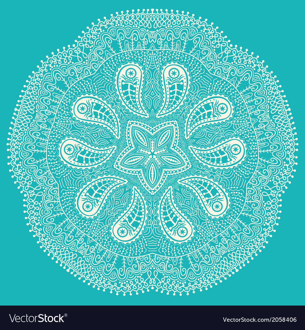 Ornamental round lace snowflake vector | Price: 1 Credit (USD $1)