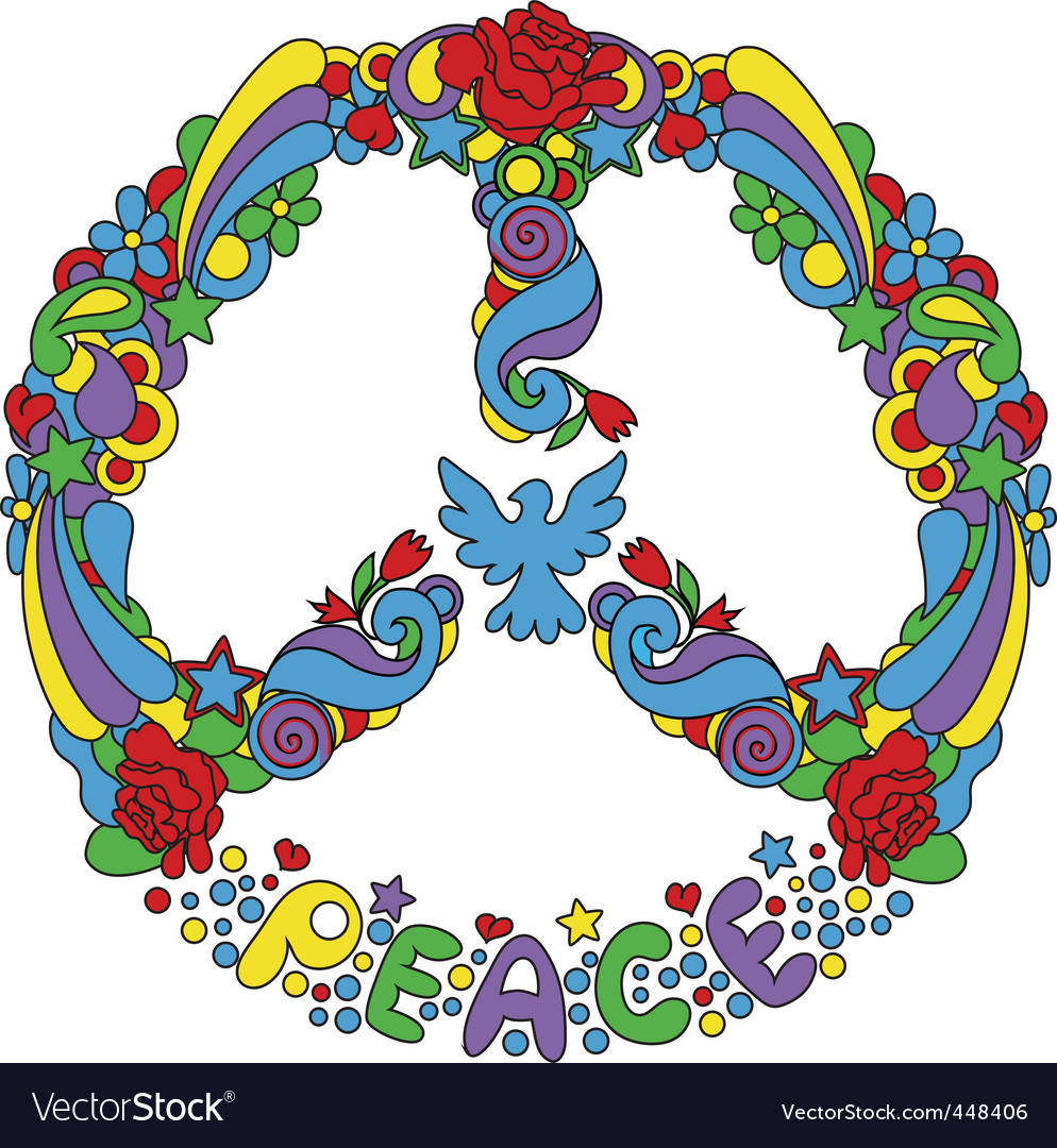 Peace symbol vector | Price: 1 Credit (USD $1)