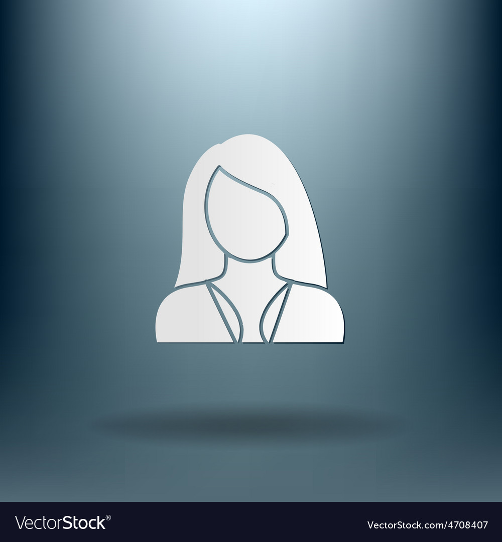 A female avatar girl avatar of a woman with long vector | Price: 1 Credit (USD $1)