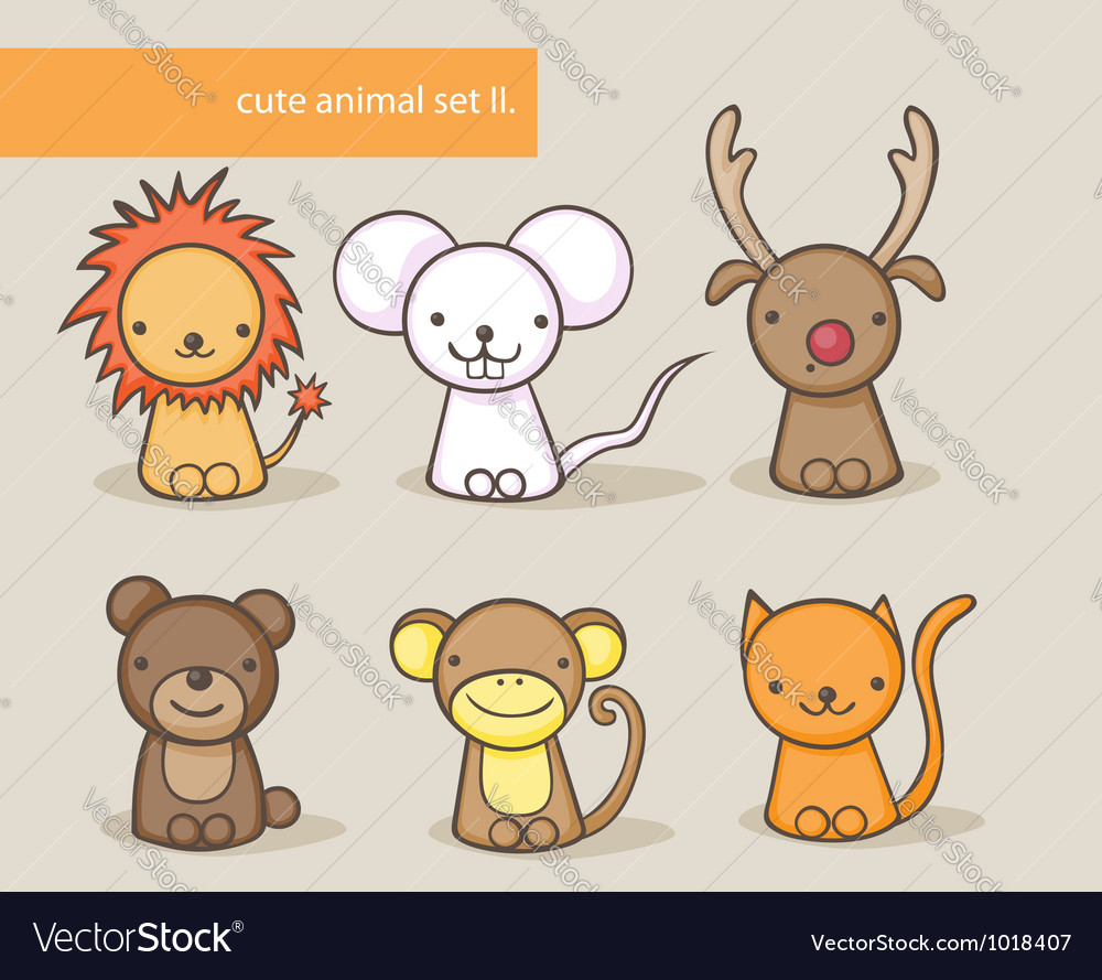 Animal set 2 vector | Price: 3 Credit (USD $3)