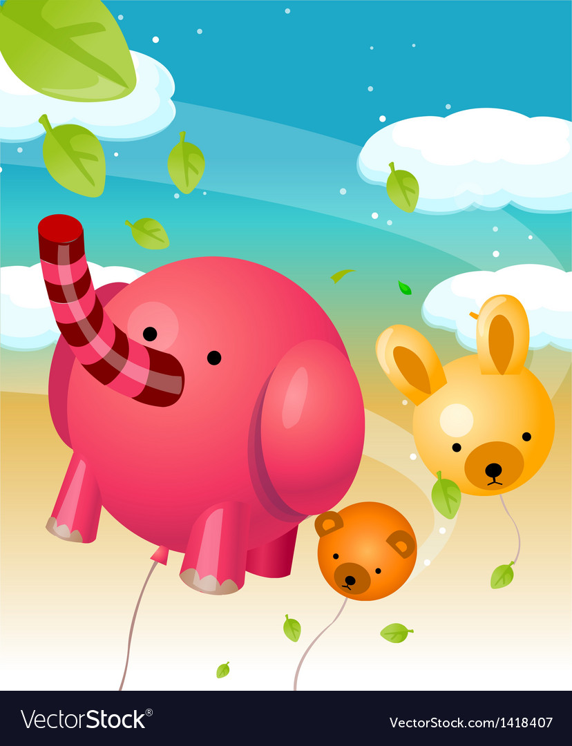 Animal shape balloons vector | Price: 1 Credit (USD $1)