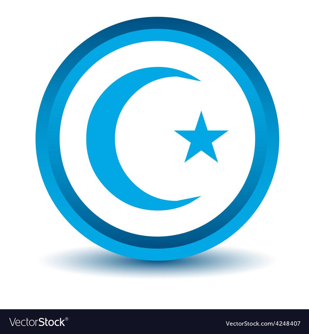 Blue islam icon vector | Price: 1 Credit (USD $1)
