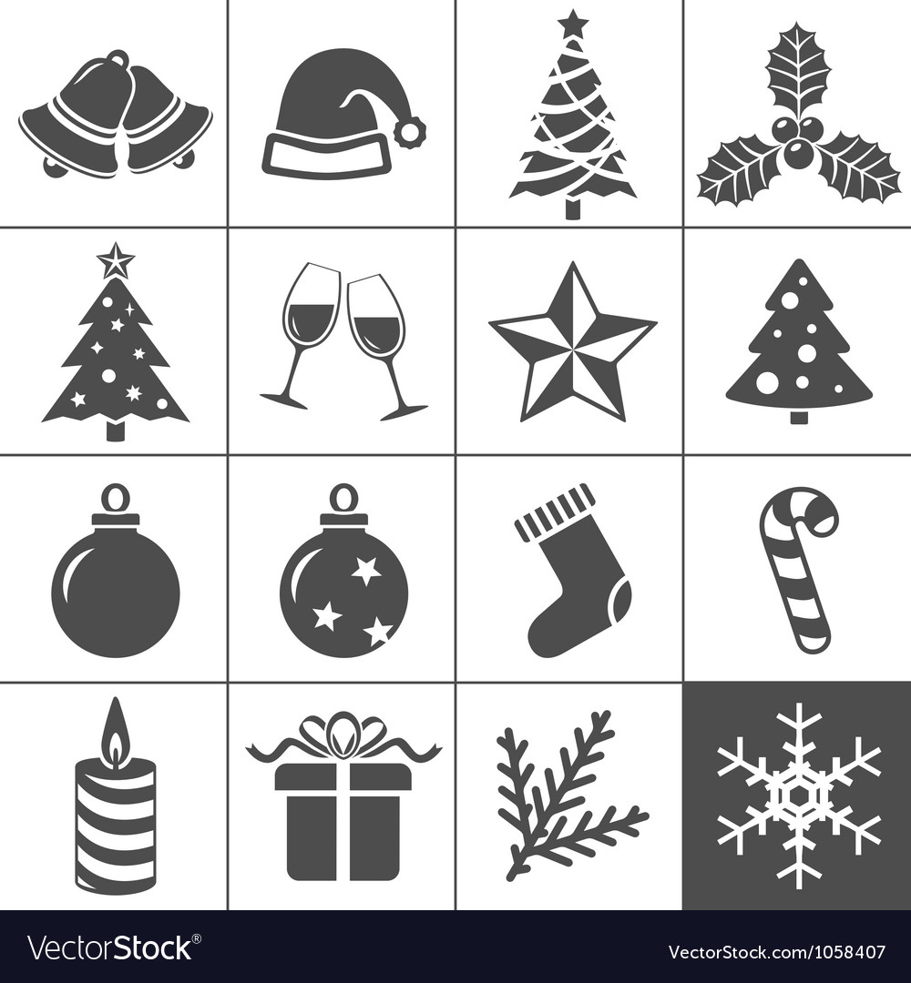 Christmas icons set - simplus series vector | Price: 1 Credit (USD $1)