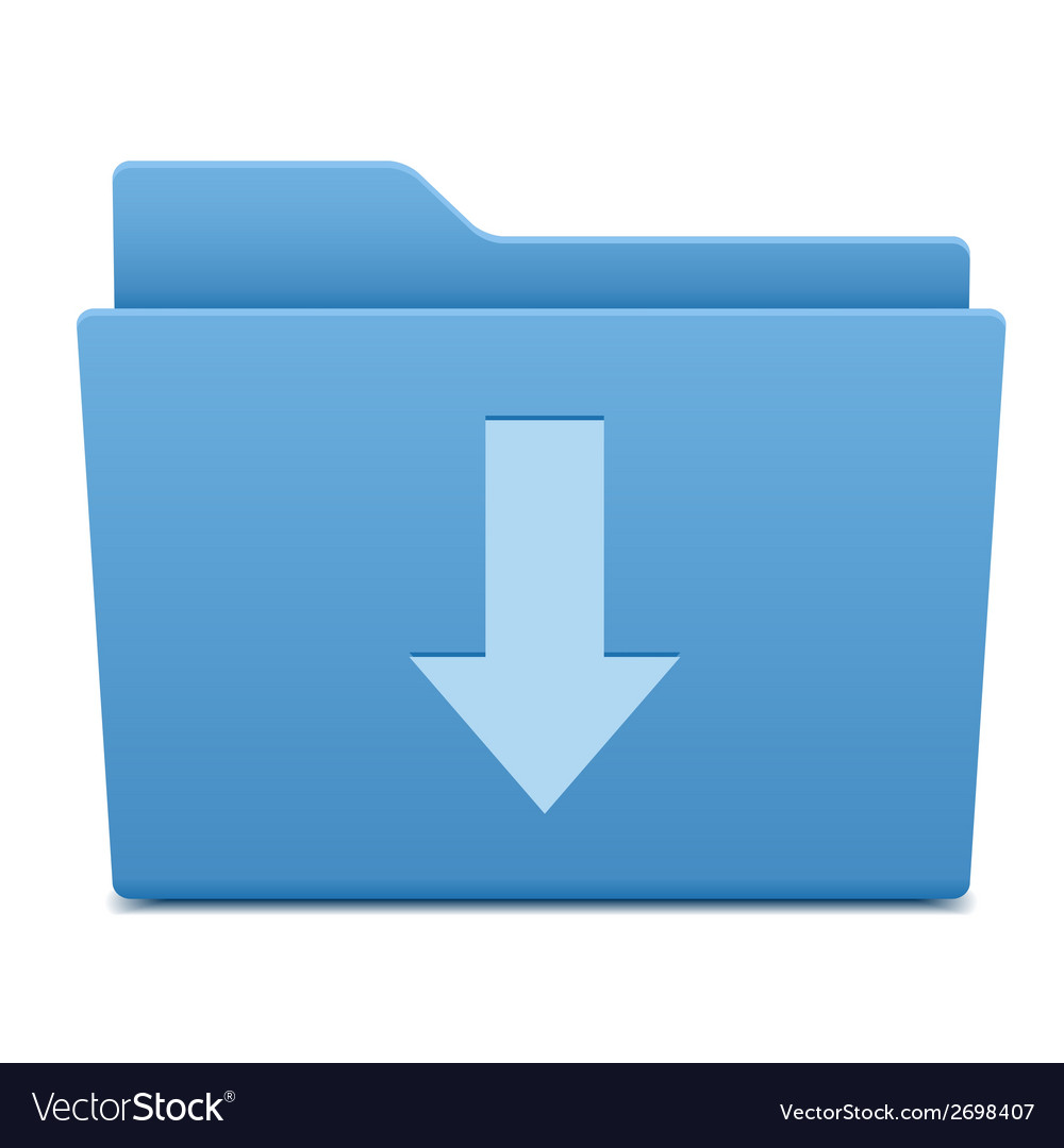 Computer folder with download symbol vector | Price: 1 Credit (USD $1)