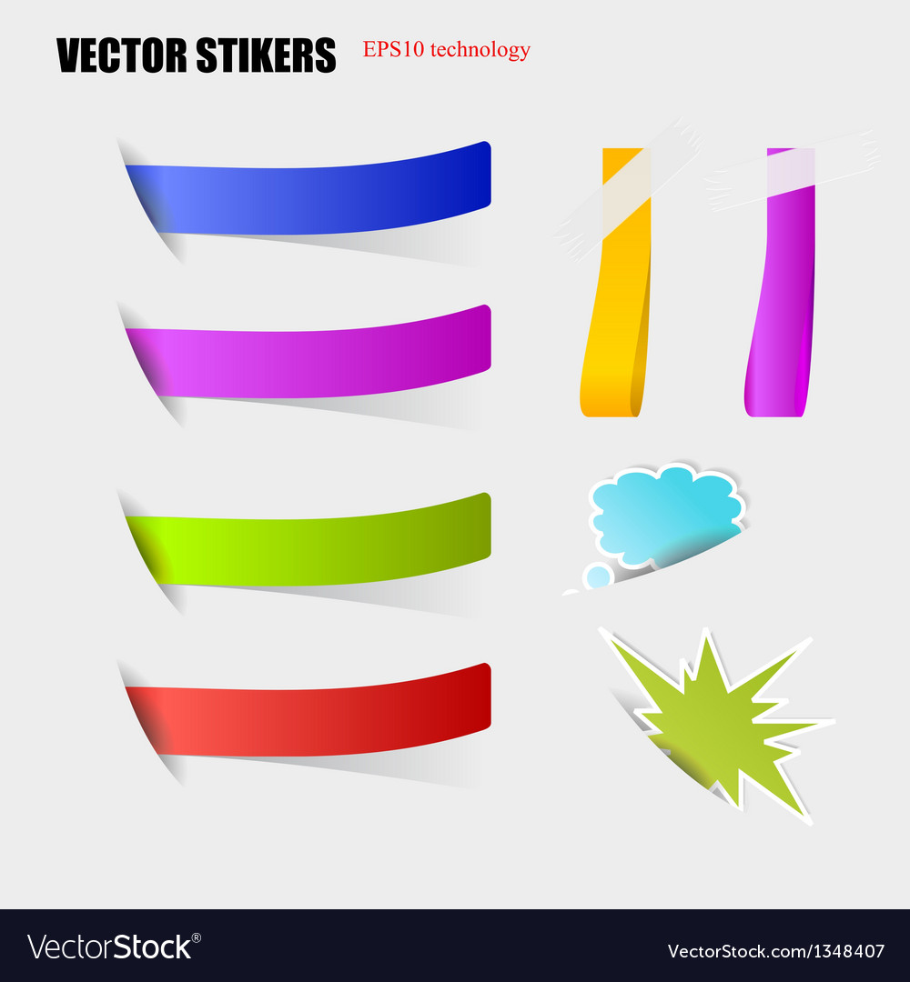 Cut stickers vector | Price: 1 Credit (USD $1)