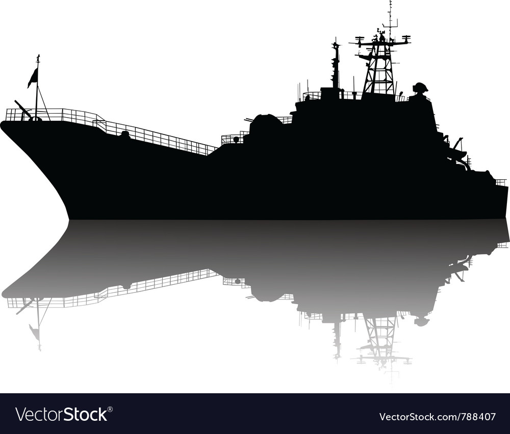 Detailed ship silhouette vector | Price: 1 Credit (USD $1)