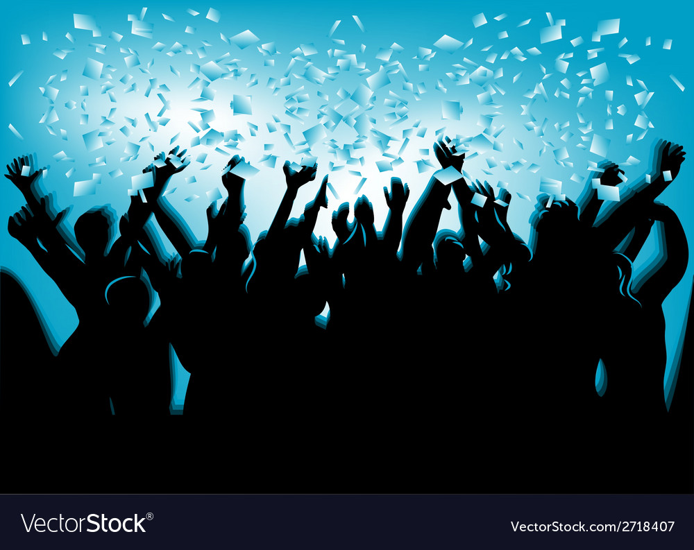 Festival crowd vector | Price: 1 Credit (USD $1)