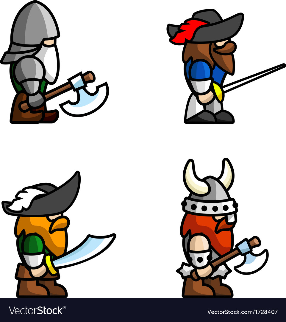 Historical battle characters vector | Price: 1 Credit (USD $1)