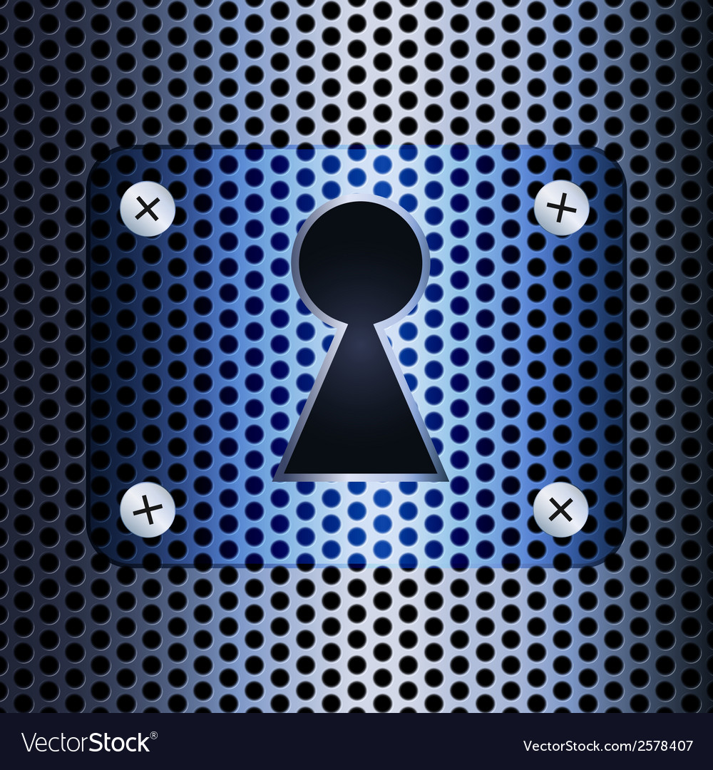 Keyhole on a metal grid vector | Price: 1 Credit (USD $1)