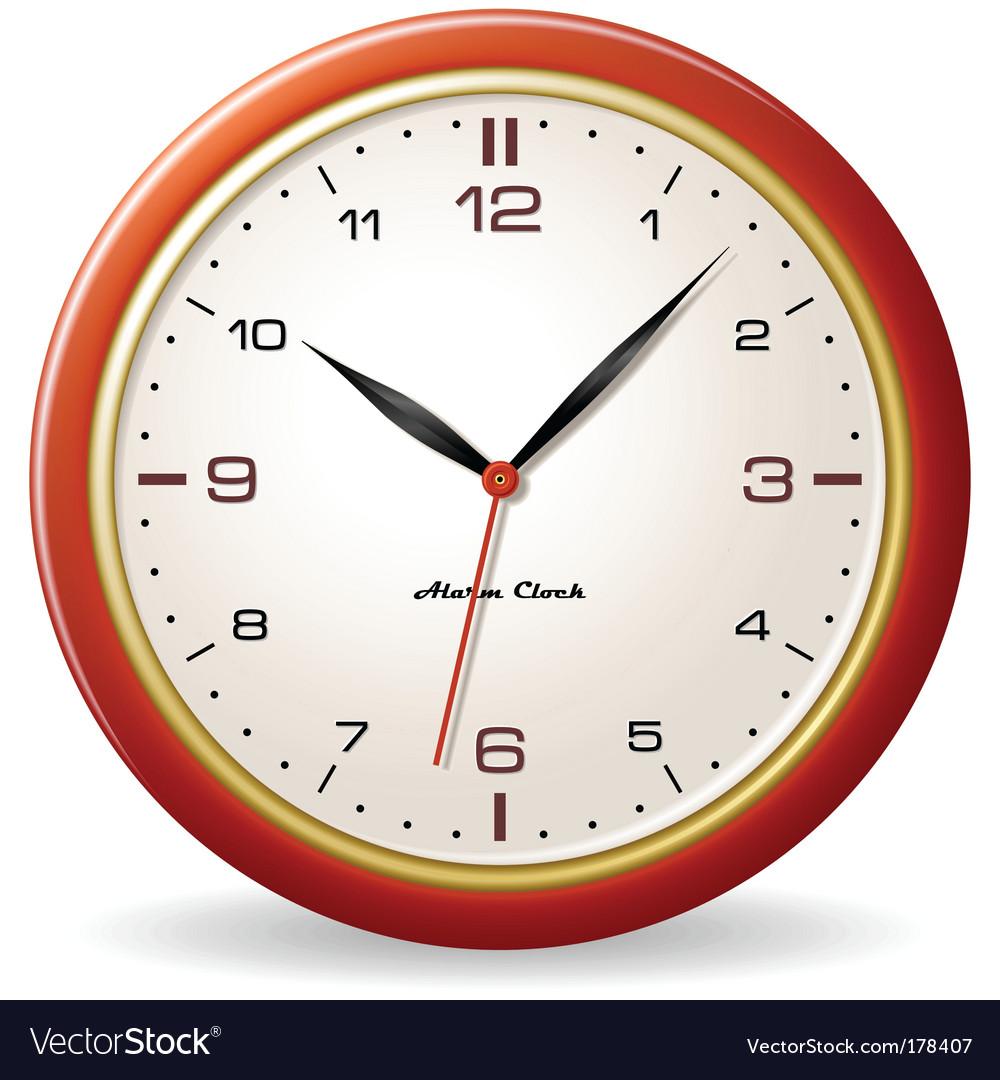 Retro style clock vector | Price: 1 Credit (USD $1)