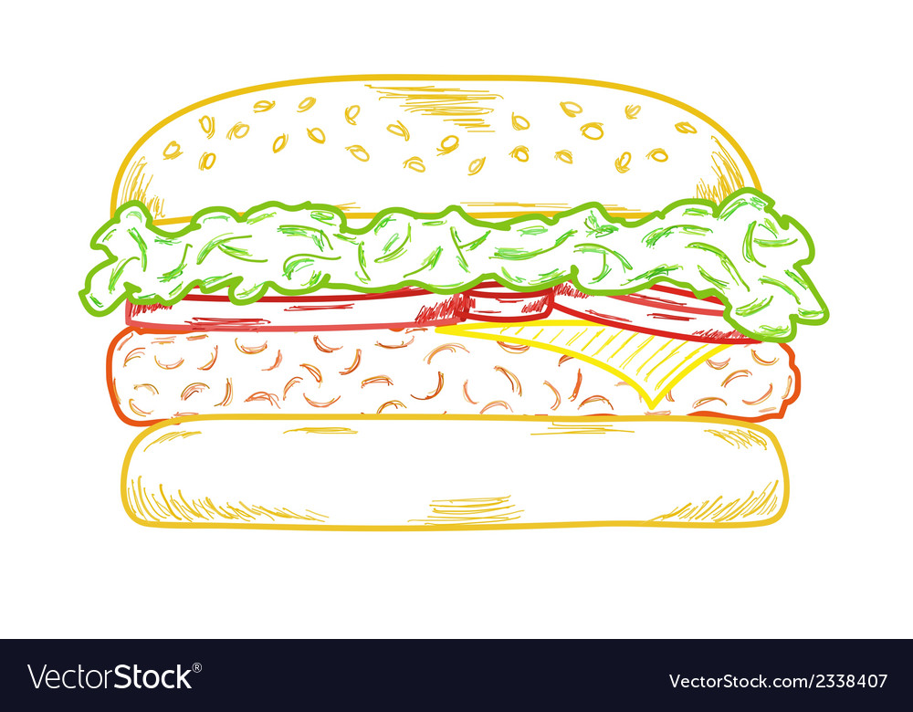 Sketch of the hamburger vector | Price: 1 Credit (USD $1)