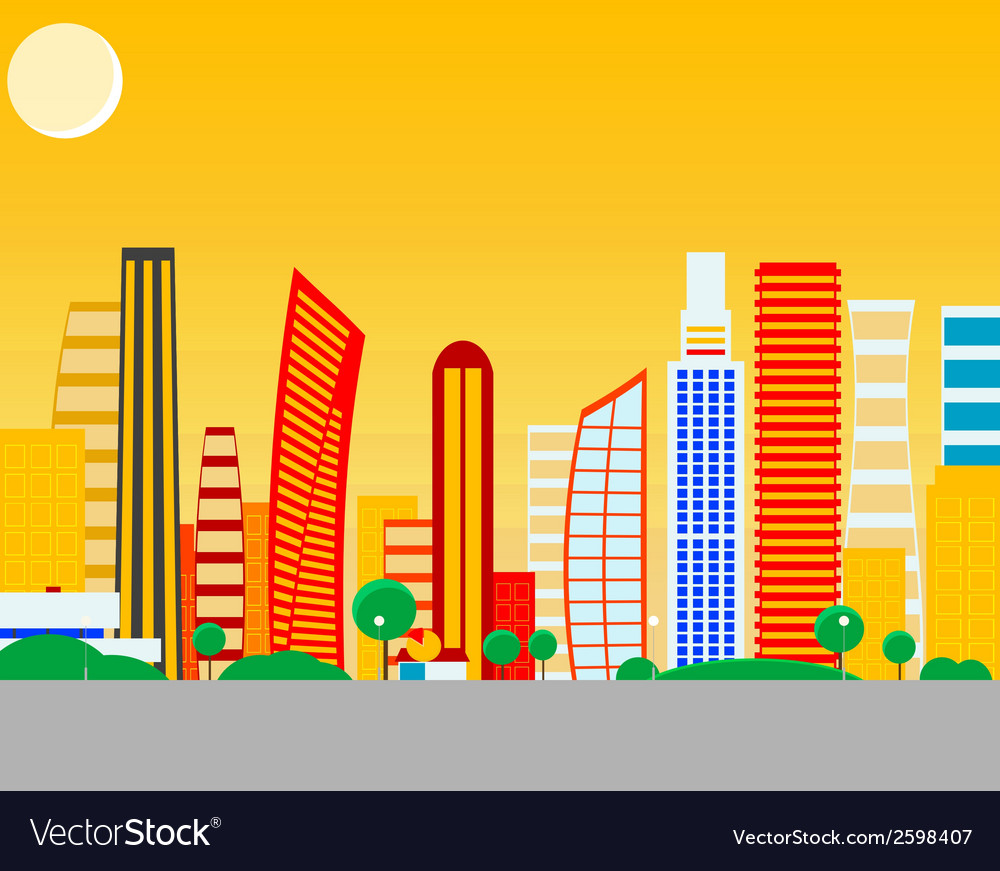Sun city vector | Price: 1 Credit (USD $1)