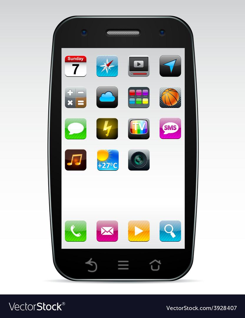 Touchscreen smartphone concept vector | Price: 1 Credit (USD $1)