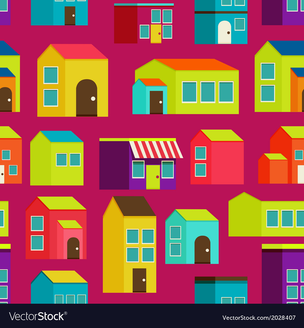 Town concept background pattern seamless vector | Price: 1 Credit (USD $1)