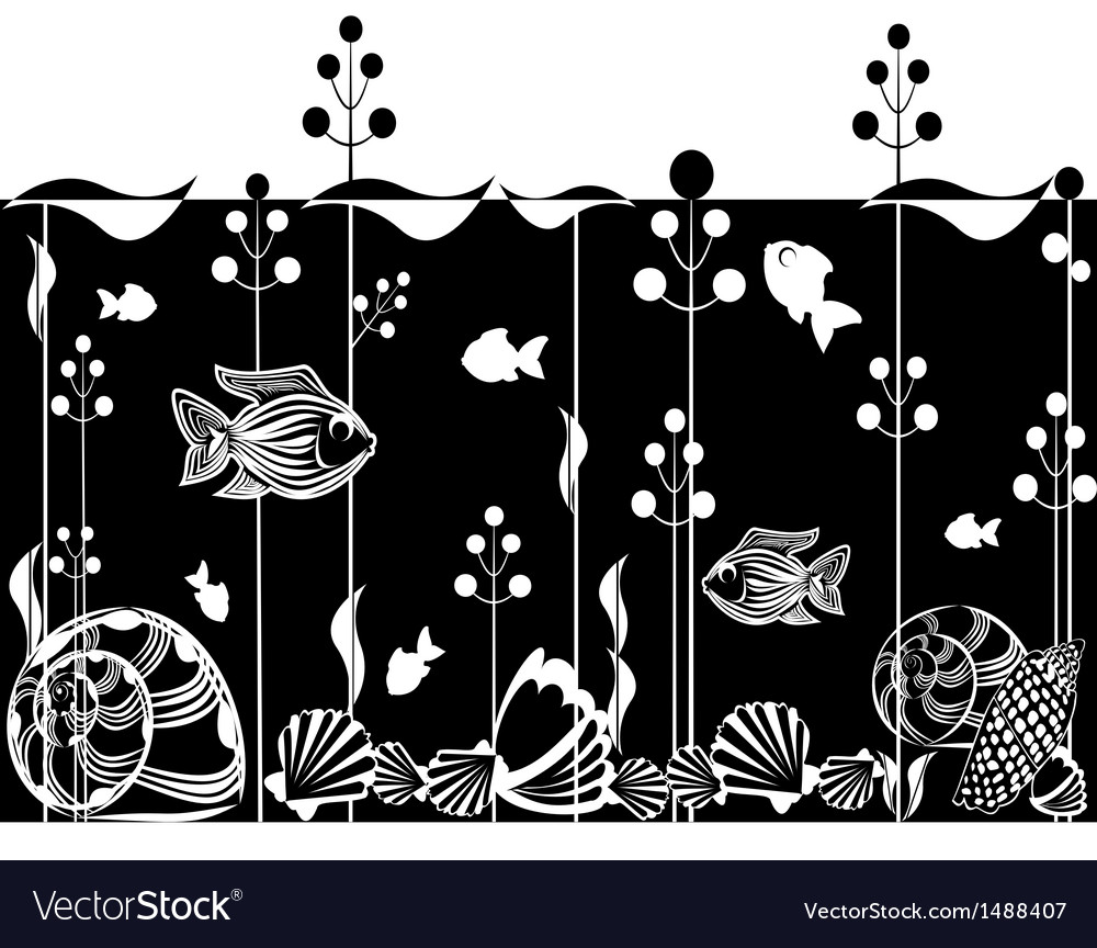 Underwater scene vector | Price: 1 Credit (USD $1)