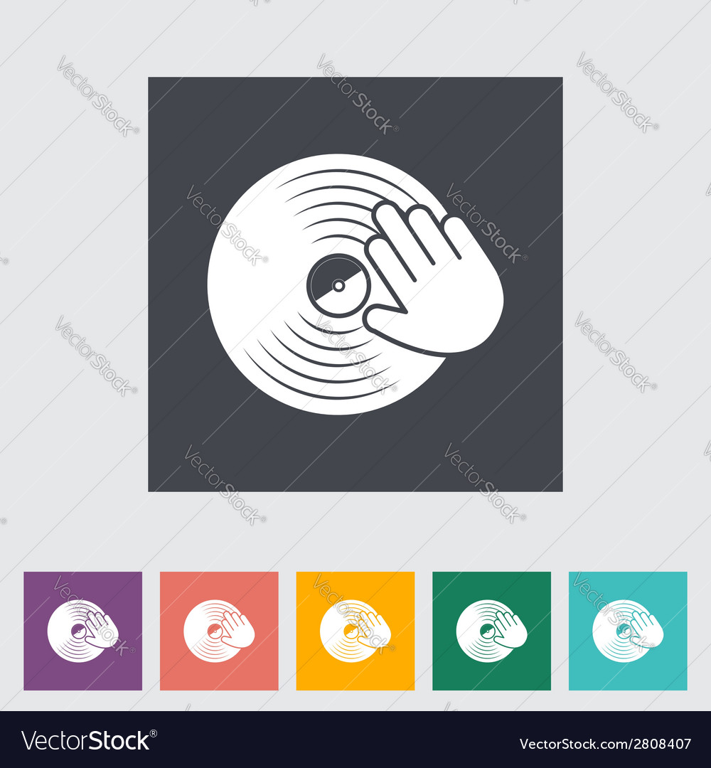 Vinyl disc whit hand vector | Price: 1 Credit (USD $1)