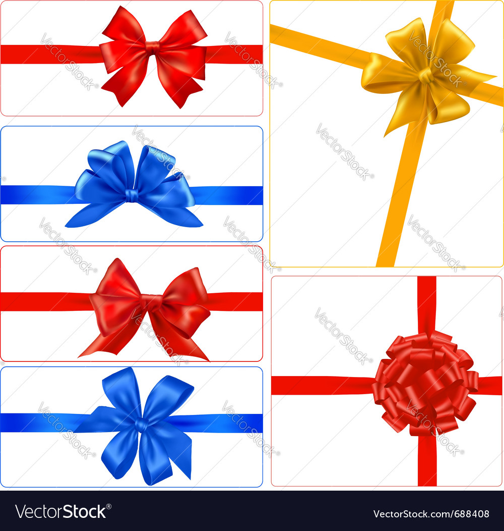 Big set of color gift bows with ribbons vector | Price: 1 Credit (USD $1)