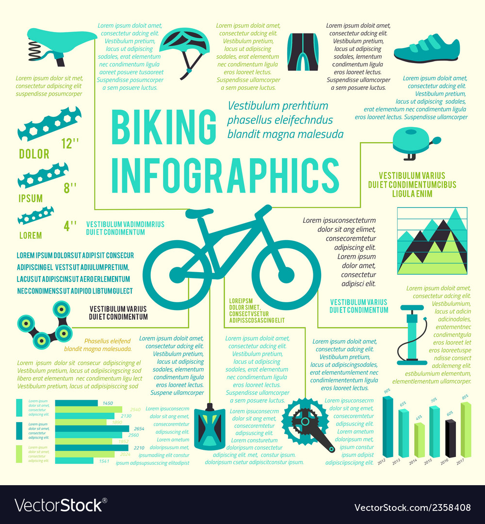 Bike icons infographic vector | Price: 1 Credit (USD $1)