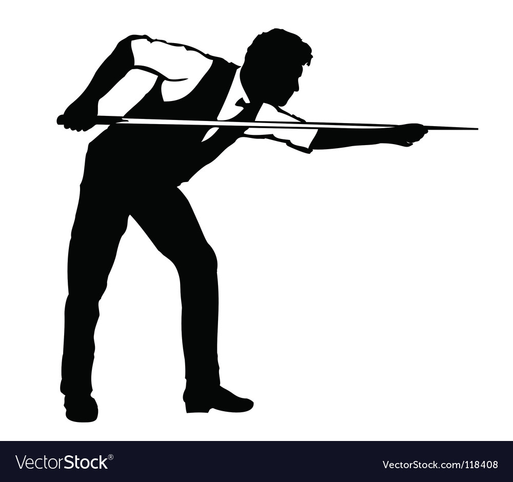 Billiards player vector | Price: 1 Credit (USD $1)