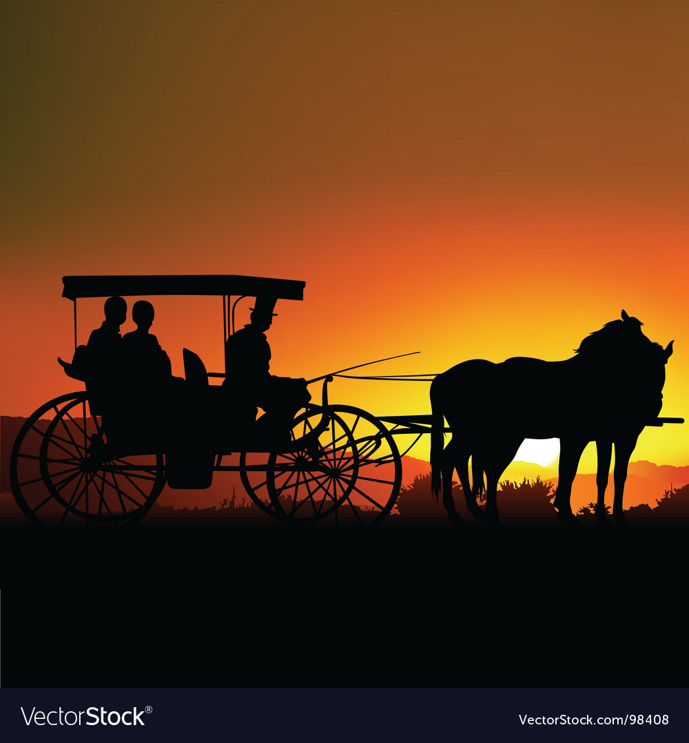 Carriage silhouette vector | Price: 1 Credit (USD $1)
