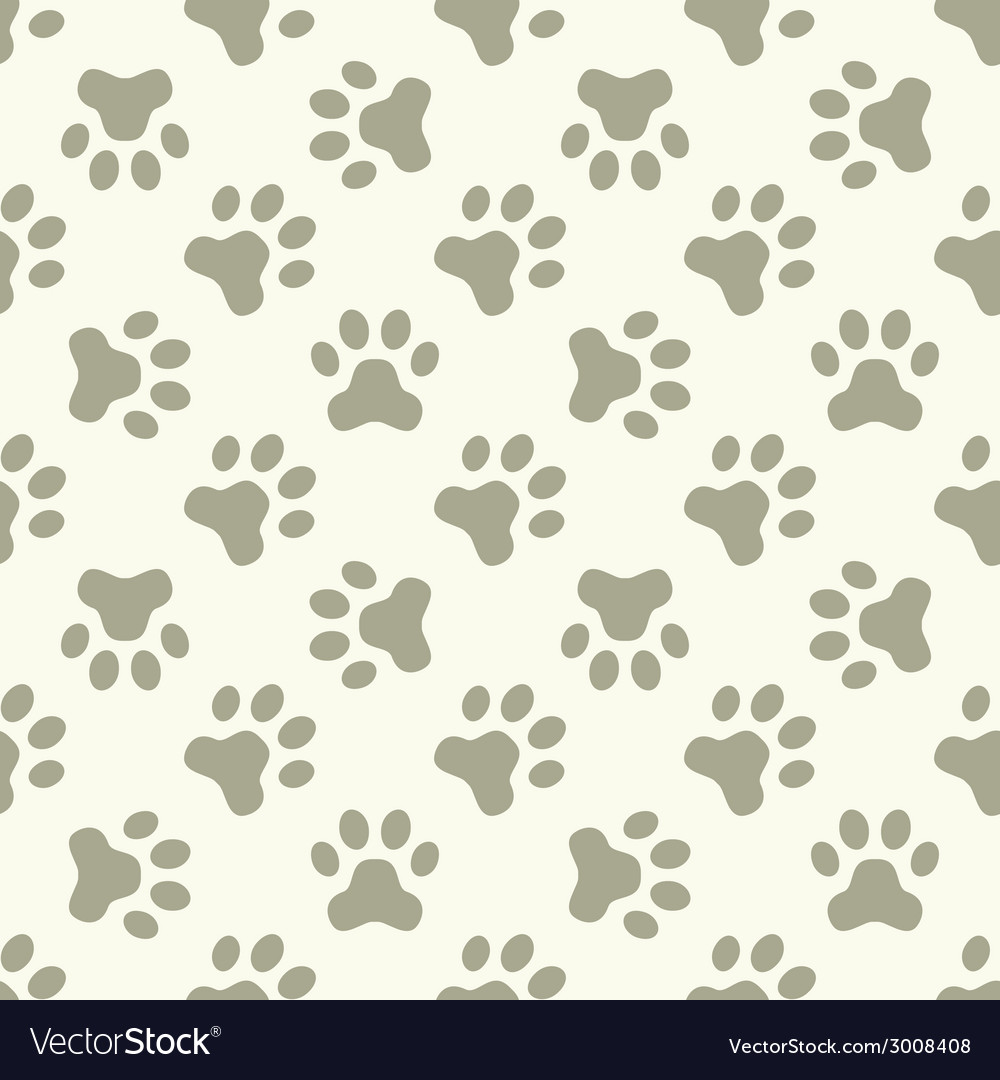 Cat or dog paw seamless pattern vector | Price: 1 Credit (USD $1)