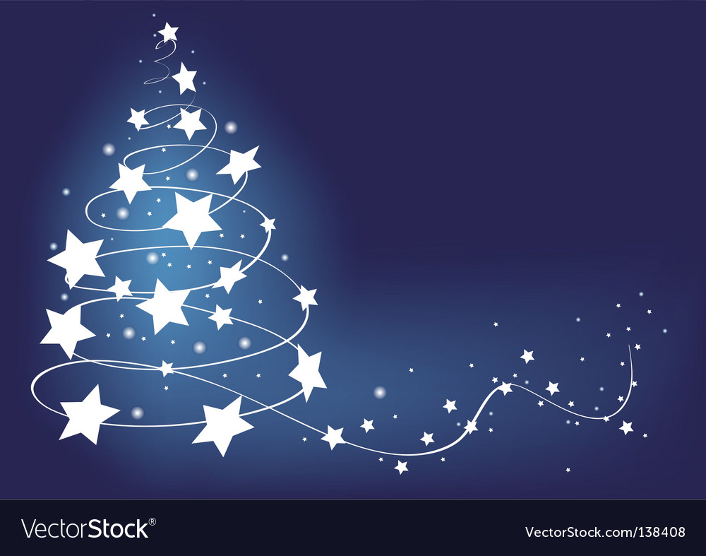 Christmas tree card illustration vector | Price: 1 Credit (USD $1)